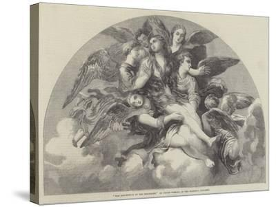 The Assumption of the Magdalen-Giulio Romano-Stretched Canvas Print