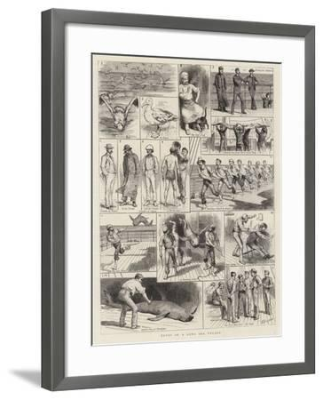 Notes of a Long Sea Voyage-Godefroy Durand-Framed Giclee Print