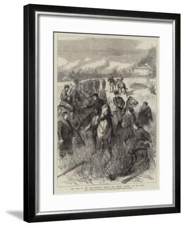 The War in the East, Officers Keeping the Servian Soldiers to the Front-Godefroy Durand-Framed Giclee Print