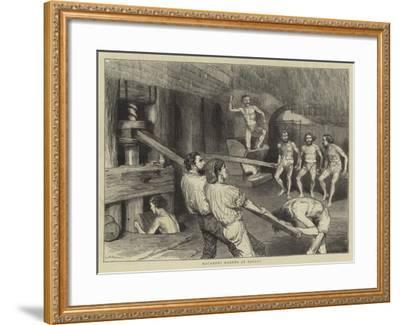 Macaroni Makers at Naples-Godefroy Durand-Framed Giclee Print