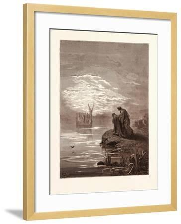 The Coming of the Boat-Gustave Dore-Framed Giclee Print