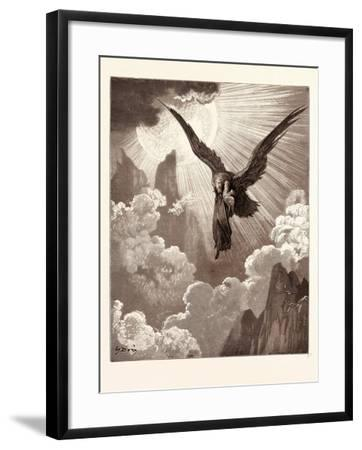 Dante and the Eagle-Gustave Dore-Framed Giclee Print