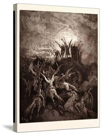 The Rebel Angels Summoned to the Conclave-Gustave Dore-Stretched Canvas Print