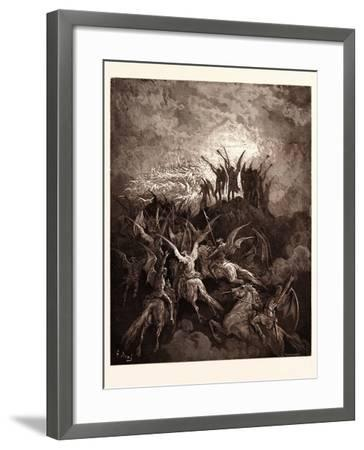 The Rebel Angels Summoned to the Conclave-Gustave Dore-Framed Giclee Print