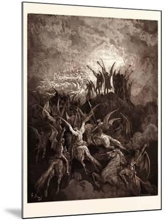 The Rebel Angels Summoned to the Conclave-Gustave Dore-Mounted Giclee Print