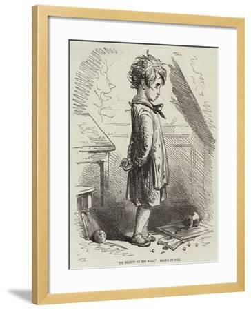 The Shadow on the Wall-Hablot Knight Browne-Framed Giclee Print