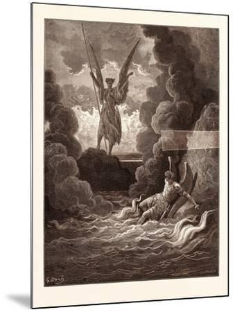 Satan and Beelzebub-Gustave Dore-Mounted Giclee Print