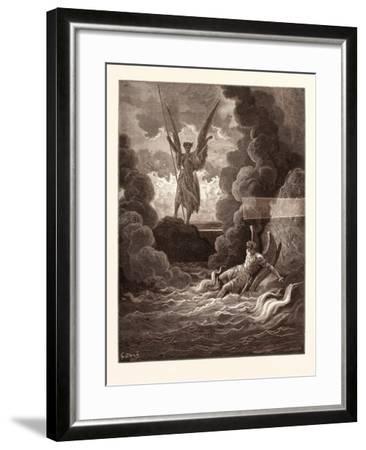 Satan and Beelzebub-Gustave Dore-Framed Giclee Print