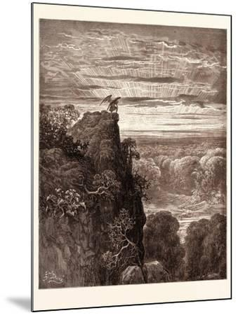 Satan Overlooking Paradise-Gustave Dore-Mounted Giclee Print