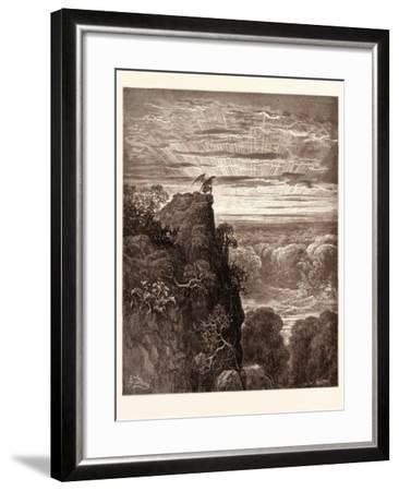 Satan Overlooking Paradise-Gustave Dore-Framed Giclee Print