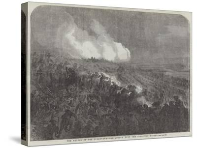 The Battle of the Tchernaya, the Attack Upon the Sardinian Picket-Gustave Dore-Stretched Canvas Print