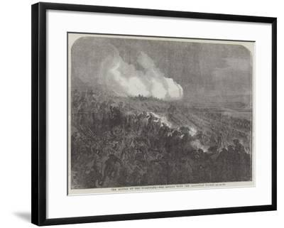 The Battle of the Tchernaya, the Attack Upon the Sardinian Picket-Gustave Dore-Framed Giclee Print