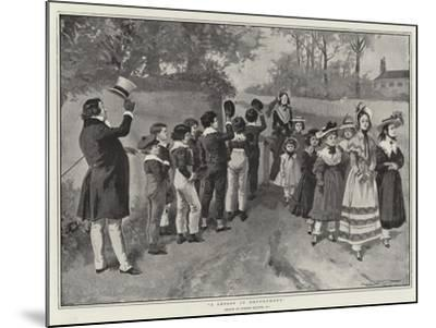 A Lesson in Deportment-Gordon Frederick Browne-Mounted Giclee Print