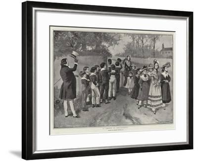 A Lesson in Deportment-Gordon Frederick Browne-Framed Giclee Print
