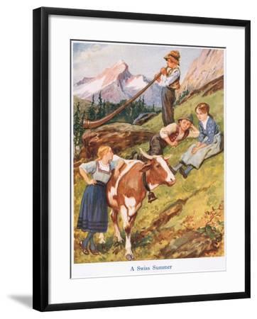 A Swiss Summer-Gordon Frederick Browne-Framed Giclee Print