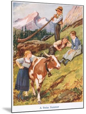 A Swiss Summer-Gordon Frederick Browne-Mounted Giclee Print