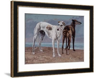 The Greyhounds of the Comte De Choiseul, 1866-Gustave Courbet-Framed Giclee Print