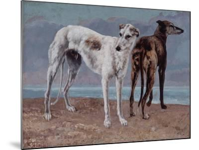 The Greyhounds of the Comte De Choiseul, 1866-Gustave Courbet-Mounted Giclee Print