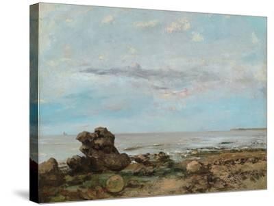 The Beach at Trouville, 1865-Gustave Courbet-Stretched Canvas Print