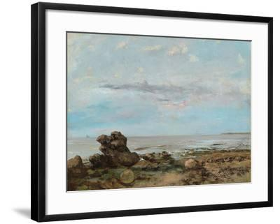 The Beach at Trouville, 1865-Gustave Courbet-Framed Giclee Print