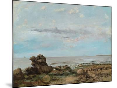 The Beach at Trouville, 1865-Gustave Courbet-Mounted Giclee Print