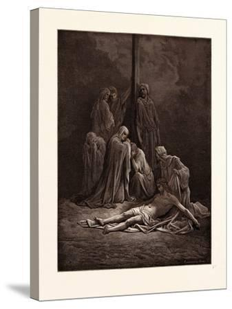 The Dead Christ-Gustave Dore-Stretched Canvas Print