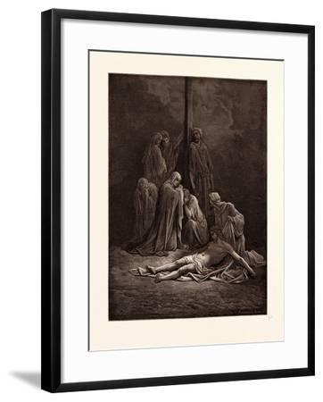 The Dead Christ-Gustave Dore-Framed Giclee Print