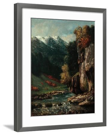 Landscape, C.1874-77-Gustave Courbet-Framed Giclee Print