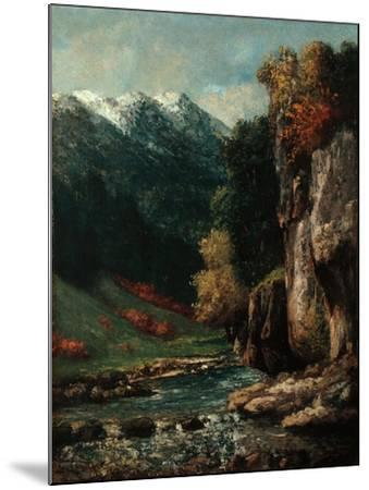 Landscape, C.1874-77-Gustave Courbet-Mounted Giclee Print