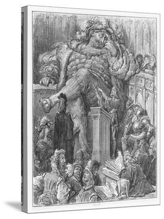 Illustration from 'Gargantua and Pantagruel'-Gustave Dore-Stretched Canvas Print