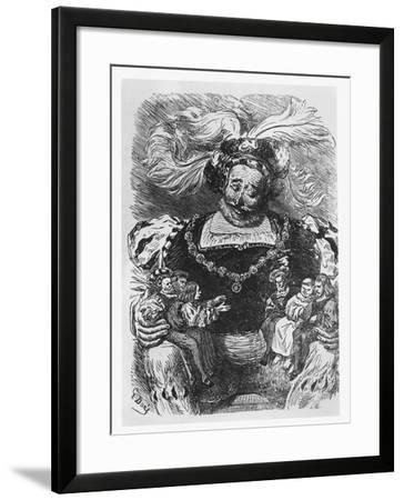 Illustration from 'Gargantua and Pantagruel'-Gustave Dore-Framed Giclee Print