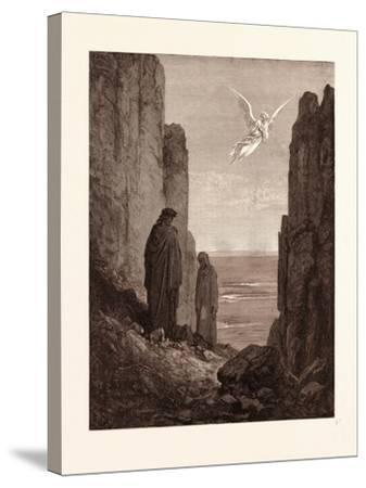 The Angelic Guide-Gustave Dore-Stretched Canvas Print