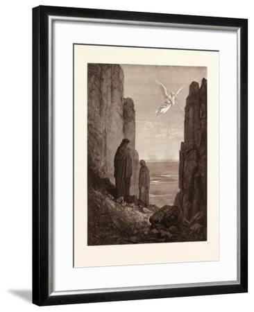 The Angelic Guide-Gustave Dore-Framed Giclee Print