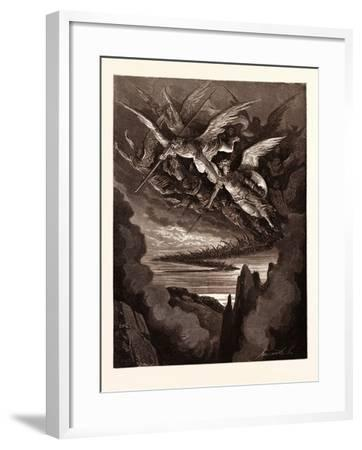 The Fallen Angels on the Wing-Gustave Dore-Framed Giclee Print
