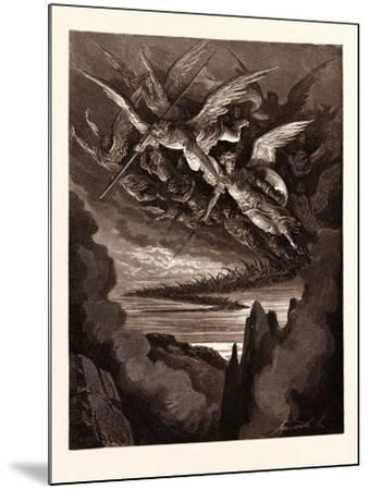The Fallen Angels on the Wing-Gustave Dore-Mounted Giclee Print