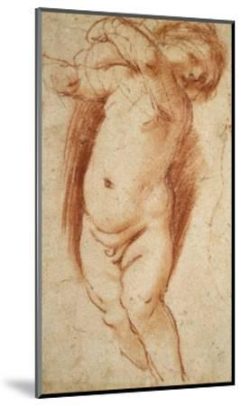A Putto, 1620 - 1624-Guercino-Mounted Giclee Print