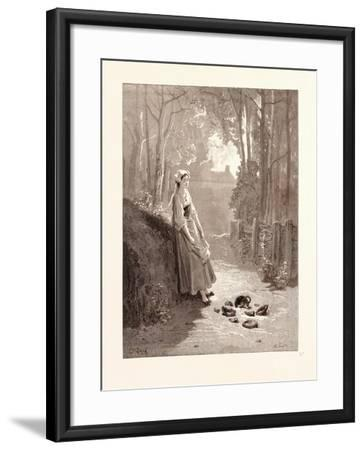 The Milkmaid and the Milk-Pail-Gustave Dore-Framed Giclee Print