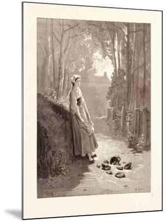 The Milkmaid and the Milk-Pail-Gustave Dore-Mounted Giclee Print
