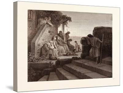 The Return of the Prodigal Son-Gustave Dore-Stretched Canvas Print