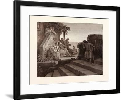 The Return of the Prodigal Son-Gustave Dore-Framed Giclee Print