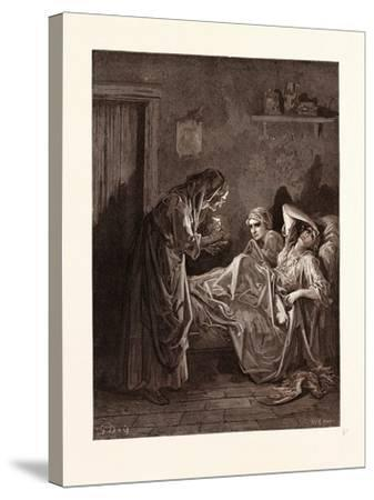 The Old Woman and Her Servants-Gustave Dore-Stretched Canvas Print