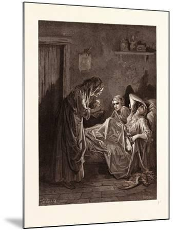 The Old Woman and Her Servants-Gustave Dore-Mounted Giclee Print