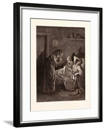 The Old Woman and Her Servants-Gustave Dore-Framed Giclee Print