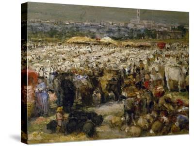 Fair at Monteluce, 1880-Guglielmo Mangiarelli-Stretched Canvas Print