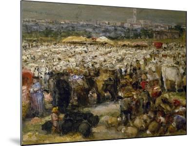Fair at Monteluce, 1880-Guglielmo Mangiarelli-Mounted Giclee Print