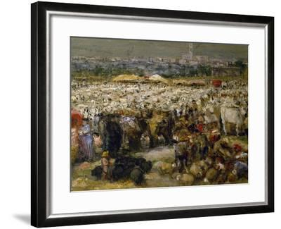 Fair at Monteluce, 1880-Guglielmo Mangiarelli-Framed Giclee Print