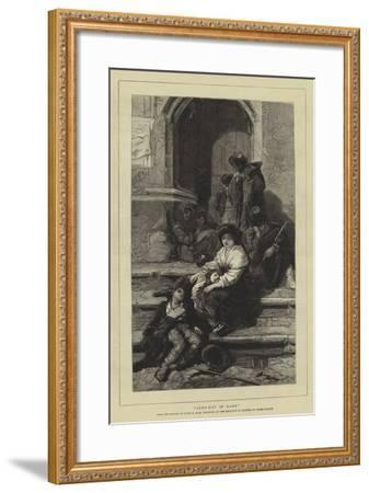 Alms-Day in Rome-Guido Bach-Framed Giclee Print