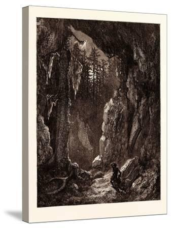 Chactas Seeking for the Graves of Father Aubry and Atala-Gustave Dore-Stretched Canvas Print
