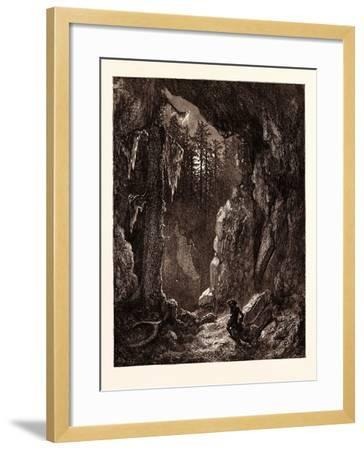 Chactas Seeking for the Graves of Father Aubry and Atala-Gustave Dore-Framed Giclee Print