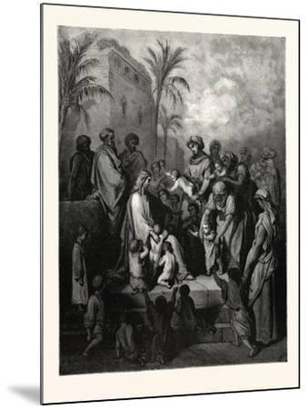 Christ Blessing the Children-Gustave Dore-Mounted Giclee Print